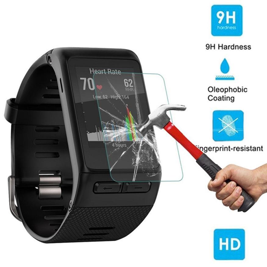 2 шт. 9H + Закаленное стекло Защитная пленка для экрана для Garmin Vivoactive HR Носимых устройств relogio inteligente horloge