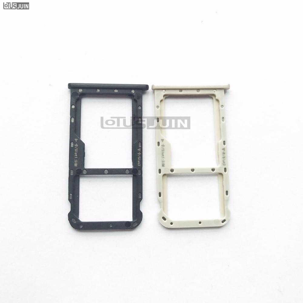10 piezas nuevas Nano tarjeta SIM bandeja Micro SD ranura adaptador piezas para Huawei Mate 10 Lite