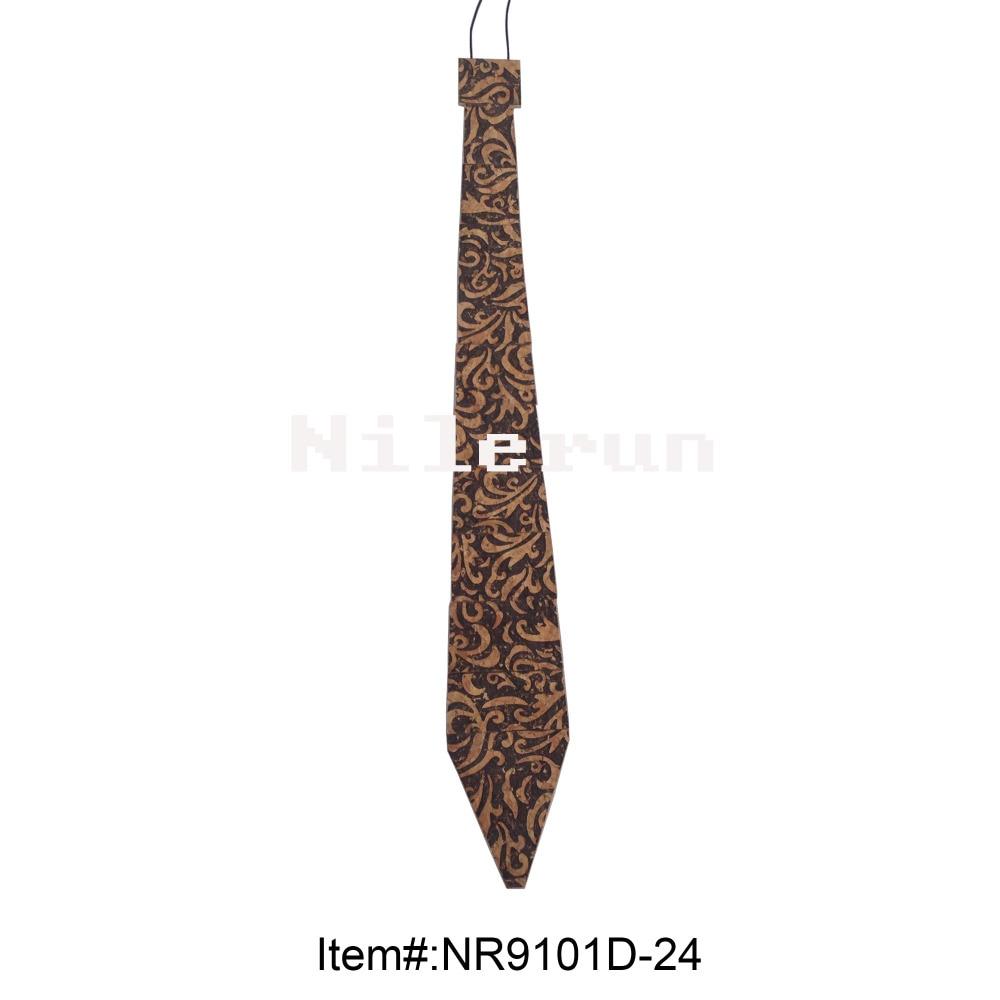 latest new design cool black bamboo wooden necktie