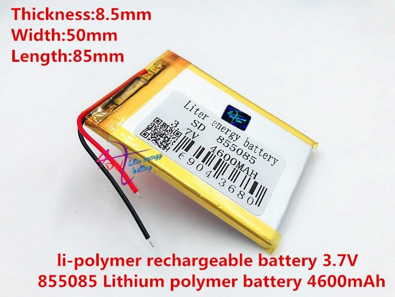 Mejor batería de polímero de litio 855085 3,7 V 4600mah con tablero de protección para Tablet Uds PDA productos digitales