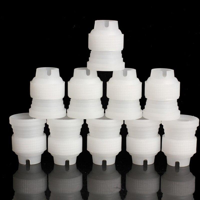 10 unids/lote adaptador de acoplador de tamaño pequeño herramienta de decoración de pasteles y flores funda para boquilla de manga pastelera gran oferta