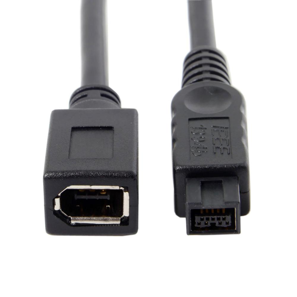IEEE 1394 6Pin hembra a 1394b 9Pin hombre Firewire 400 a 800...