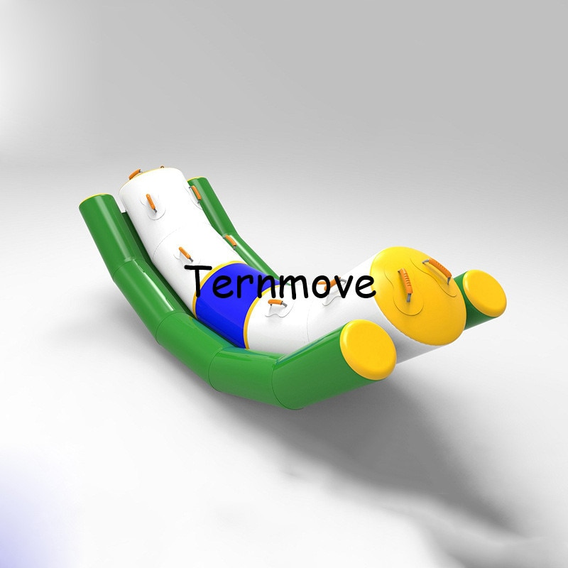 Balancín de juguete inflable balancín para deportes acuáticos totter de agua de una sola línea doble seesaw rocker