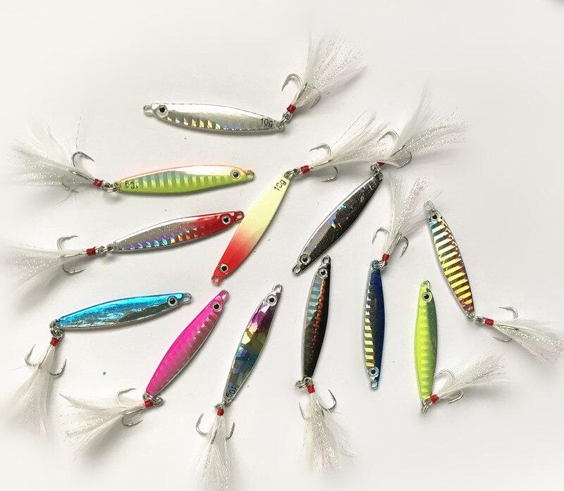Cuchara de pesca de señuelos metálicos de 4,8 cm y 10g para pesca en agua dulce, señuelo duro para pesca, cuchara para pesca, aparejo de Metal
