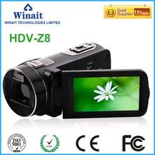 2017 nouveau style caméra vidéo professionnel max 24mp FHD 1080 p 16x zoom numérique caméra photo caméscope numérique avec affichage 3.0