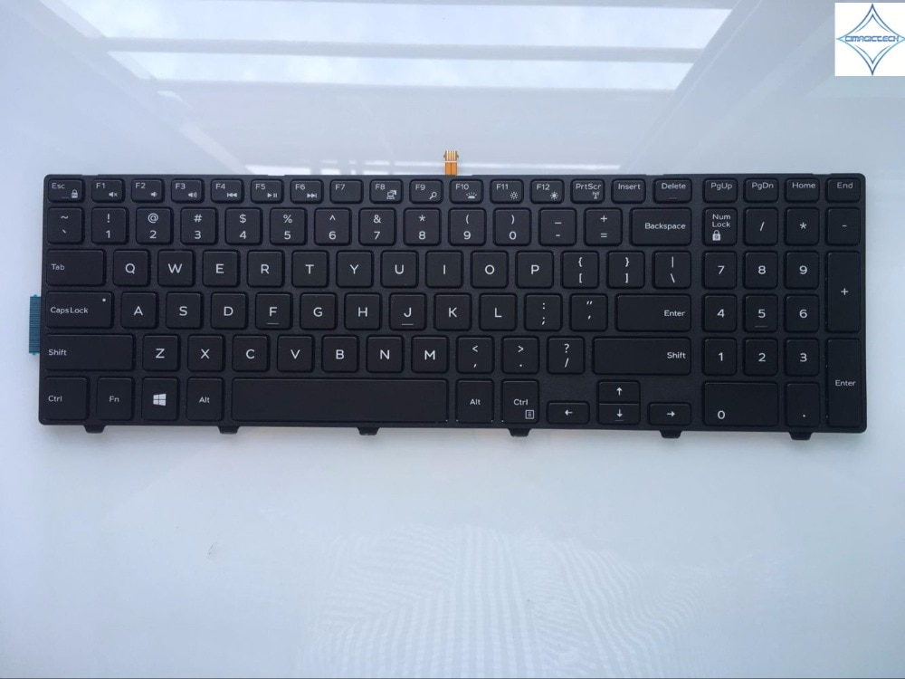 Клавиатура для ноутбука Dell Inspiron 15R 15 3000 15 5000 17-5000 5547 3542 5542 US PK1313G1B00 NSK-LR0BC 01 с рамкой и подсветкой