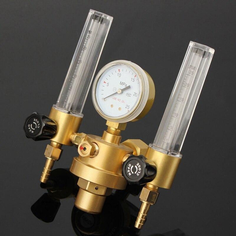 Regulador de Pressão de Argônio Tubo de Medidor de Fluxo de Controle de Válvula de Gás Medidor de Vazão Gás de Soldadura Medidor Soldadura Dupla Bolha Aquário Contador Co2 Mig Tig de