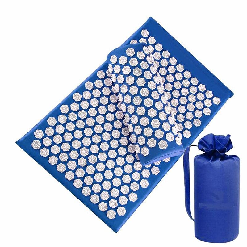 Массажный коврик (LaGuerir/67x42x2,5 см/6 цветов) из нетканых материалов + подушка (37x14,5x10 см) + чехол