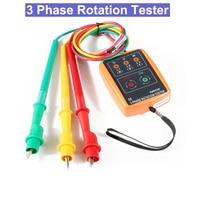 SM852B Phase sequence tester Indicator 3 Phase Rotation Tester Digital Phase Indicator Detector LED Meter 60V~600VAC