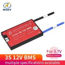 리튬 이온 bms 3s 12V 10A 15A 20A 30A 40A 50A 60A BMS 11.1V 12.6V 18650 리튬 배터리 팩 BMS, 전자 자전거 용 균형 버전 포함