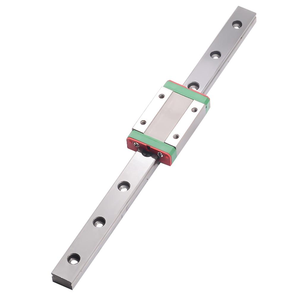Piezas de impresora 3D cnc Kossel Mini MGN15 15mm miniatura carril lineal Diapositiva 1 Uds 15mm carril de L-700mm + 1 Uds MGN15H carro