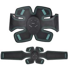 USA Stock EMS Abdominal Muscle Trainer Sports Press Stimulator Gym Equipment Body Massager Arm Leg Muscle Stimulator Toning Gear