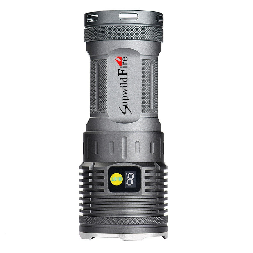Alta calidad Supwildfire 20000LM 8 x XM-L T6 LED potencia y modo pantalla Digital linterna de caza