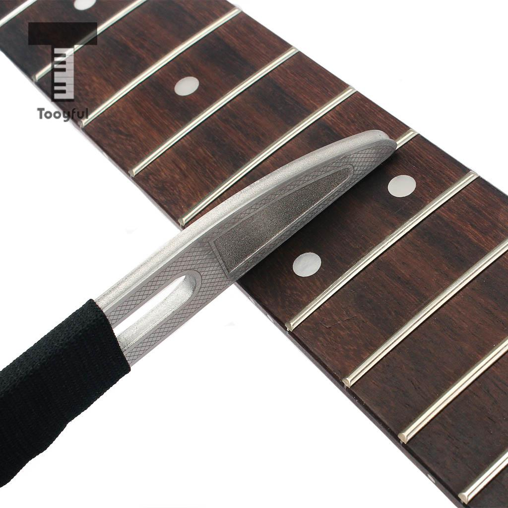 Herramienta profesional de guitarra Tooyful, lima de acero inoxidable para trastes de guitarra con diamantes abrasivos para ukelele bajo