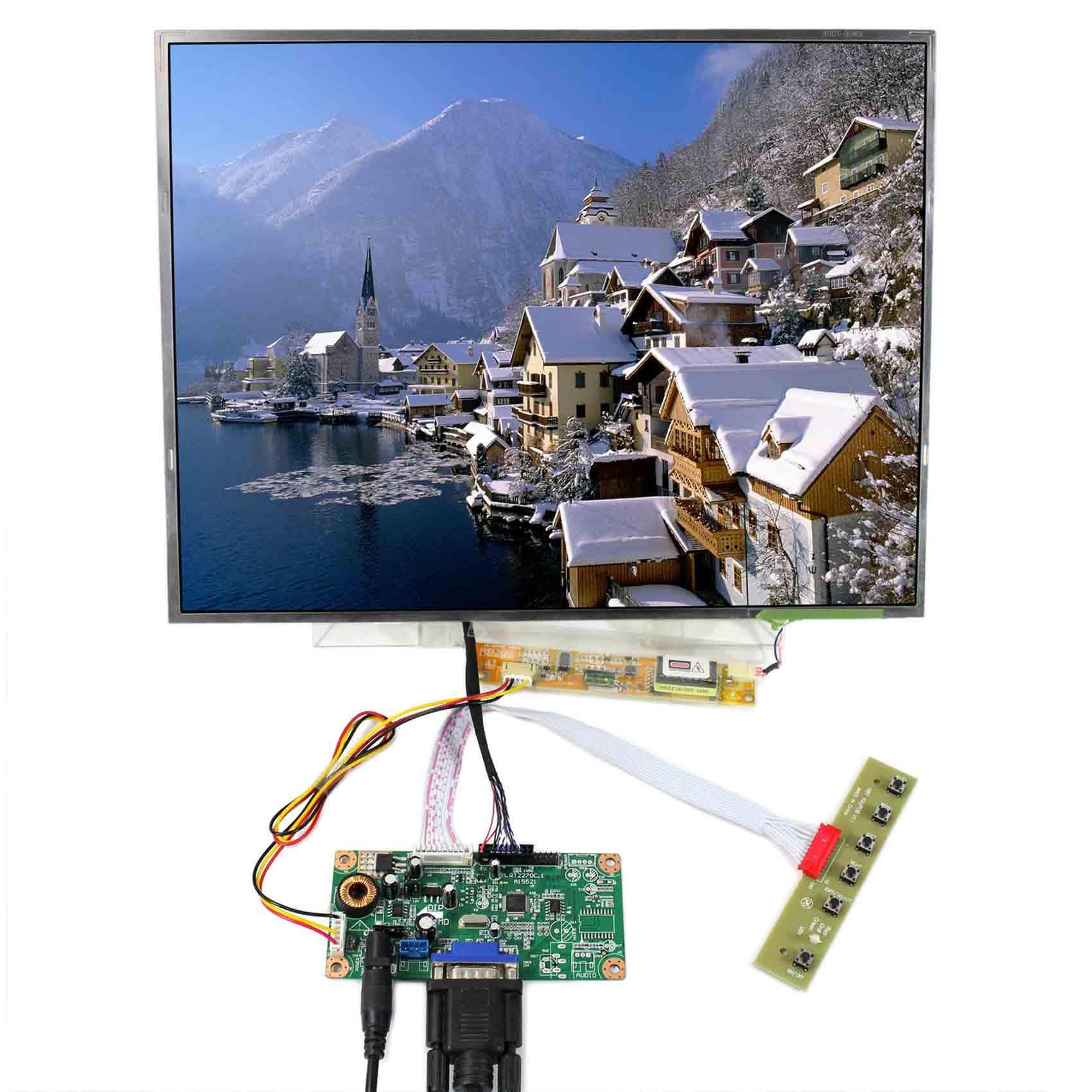 VGA LCD Controller Board 15inch LP150X09 N150XB QD15XL06 1024x768 LCD Screen
