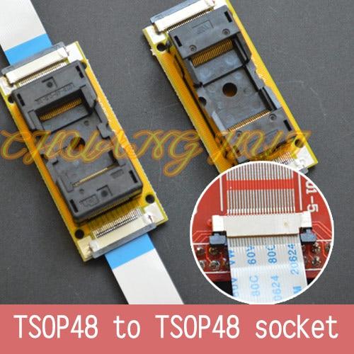 برنامج اختبار جديد TSOP48 على خط اختبار المقبس SMD لحام TSOP48-TSOP48 ic المقبس محول الملعب = 0.5 مللي متر