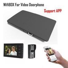 비디오 doorphone 초인종 빌딩 인터콤 시스템 제어 3g 4g 안 드 로이드 아이폰 ipad 애플 리케이션에 대 한 무선 wifi ip 상자 스마트 전화