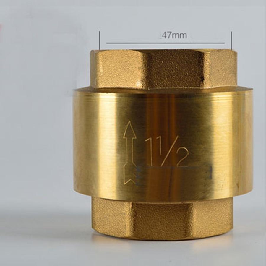 """DN40 G 1-1/2 """"BSPP hilo femenino Resorte de latón válvula de retención de una vía espesante 3,1mm de altura 62mm"""