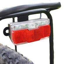 Onature ebike light rear input 12V 24V 36V 48V 60V LED electric bike light tail install on carrier rack e bike tail light