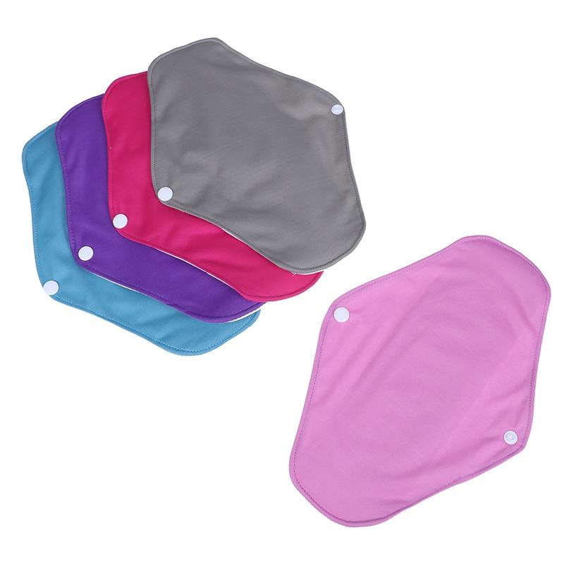 Toallitas sanitarias lavables de bambú, toallitas sanitarias reutilizables con forro de Panty suave con flujo de luz para el período Menstrual, 5 colores