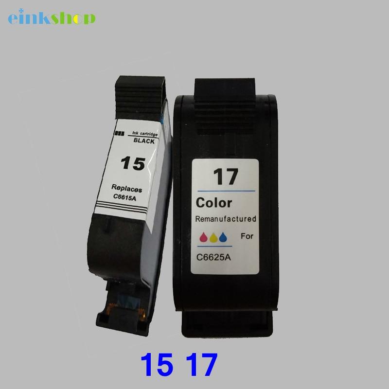 Einkshop cartucho de tinta compatible para hp 15 17 para hp Deskjet serie 1120c 825, 840, 841, 842, 843, 845 PSC 500 impresora HP OfficeJet Pro 1170c tinta