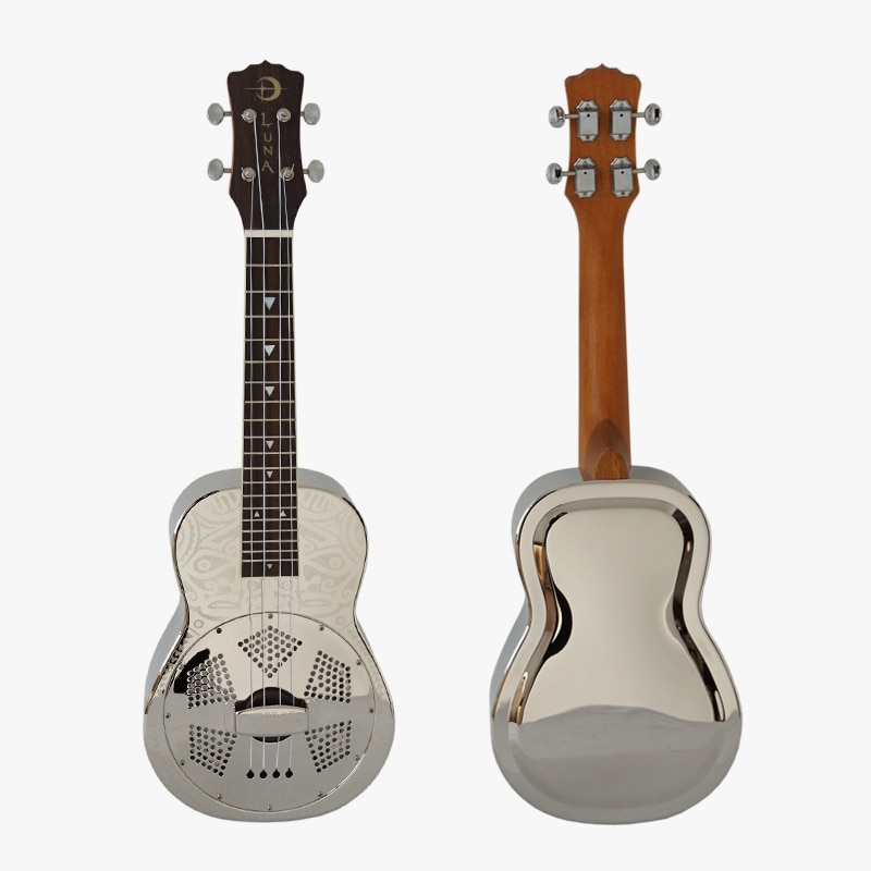 Liberação 100% nova condição personalizado 24 Polegada concerto luna tiki ressonador ukulele luna