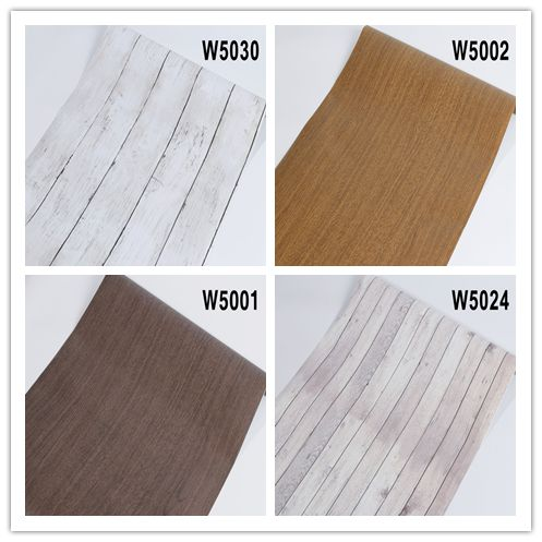Film Wood Grain Wallpaper Wall Sticker Decal  Self Adhesive Renovation  Kitchen Cabinet Waterproof Home Decor funlife 20x300cm vintage white green grain wood floor sticker adhesive waterproof home sticker kitchen bathroom wall sticker