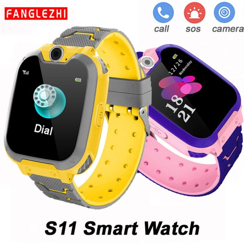 Reloj inteligente S11 para niños, compatible con tarjetas TF, Android IOS táctil, música, regalo para niña