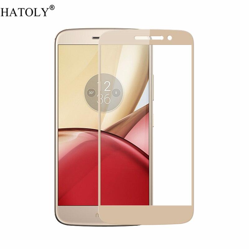 Para vidrio templado Motorola Moto M vidrio 9H película de cobertura completa Protector de pantalla para Motorola Moto M vidrio para Motorola M XT1662