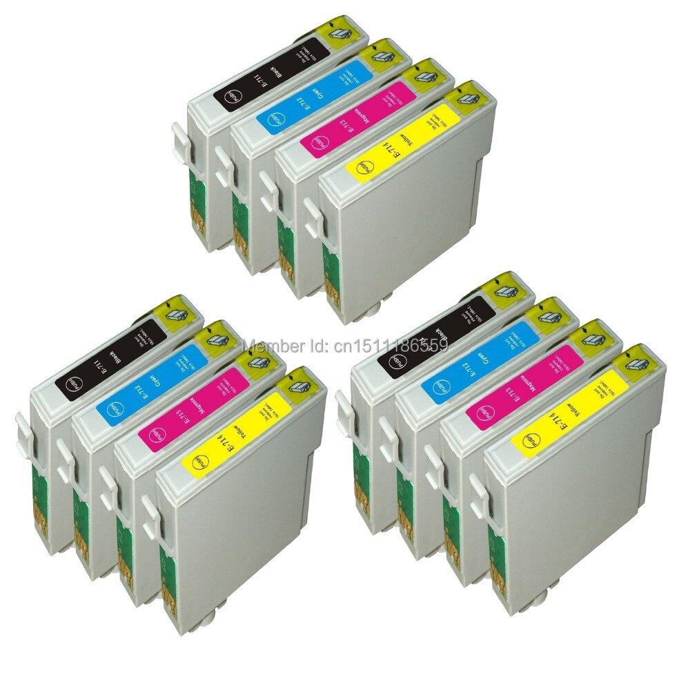 خراطيش حبر الطابعة ، 12 قطعة ، متوافقة مع Epson stylus S21 / SX210 / SX215 / SX410 / SX415 / SX110 / SX115 / BX31F