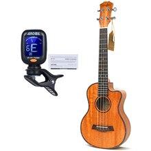 23 inch Ukulele Mahonie 4 String Ukelele Hawai Gitaren Music Instrument Gitaar met Pickup EQ guitalele