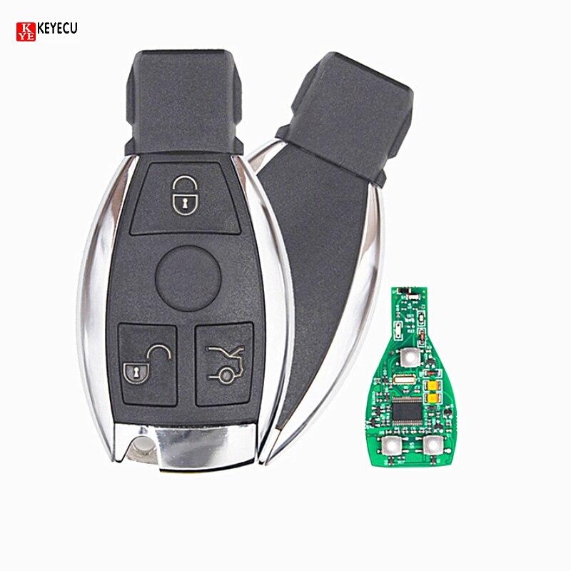 Keyecu inteligentny klucz 3 przyciski sterowania 315MHz/433MHz obudowa pilota z kluczykiem samochodowym wymiana klucza dla Mercedes Benz rok 2000 + NEC i BGA