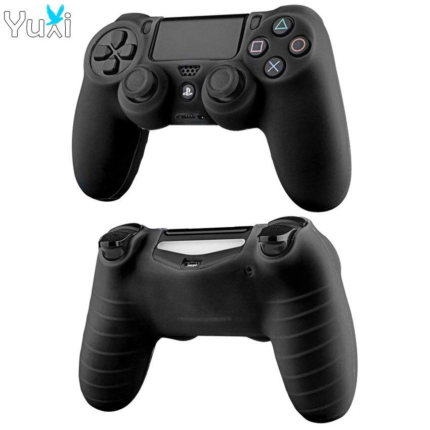 YuXi, funda de goma de silicona suave, funda para Play Station Dualshock 4 PS4 DS4 Pro, control delgado de la piel