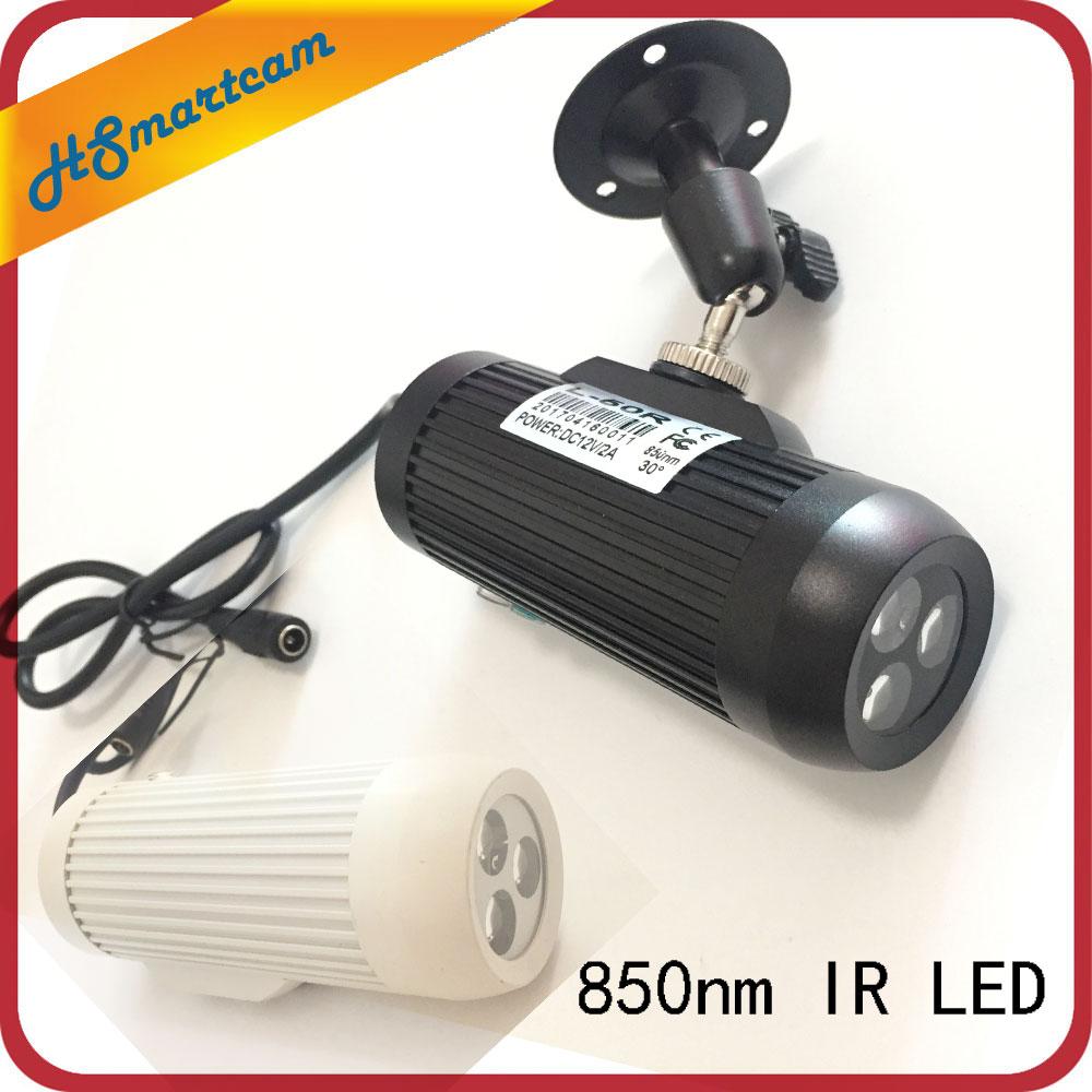 CCTV ملء ضوء كاميرات المراقبة للرؤية الليلية ملء ضوء 850nm ليلة النهار غير مرئية 3 قطعة إضاءة مصفوفة الأشعة تحت الحمراء