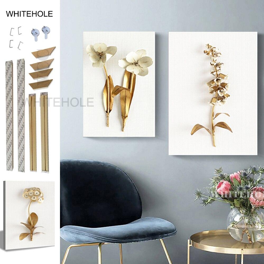 DIY картина из натурального дерева рамка Цветы Картина 3D эффекты настенные картинки для гостиной стены Искусство Холст Картина постер рамка