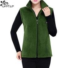 ¡Novedad de 2020! Chalecos de lana UHYTGF para mujer, chaquetas sin mangas de talla grande coreanas de otoño, chaleco informal con cremallera a la moda para mujer 442