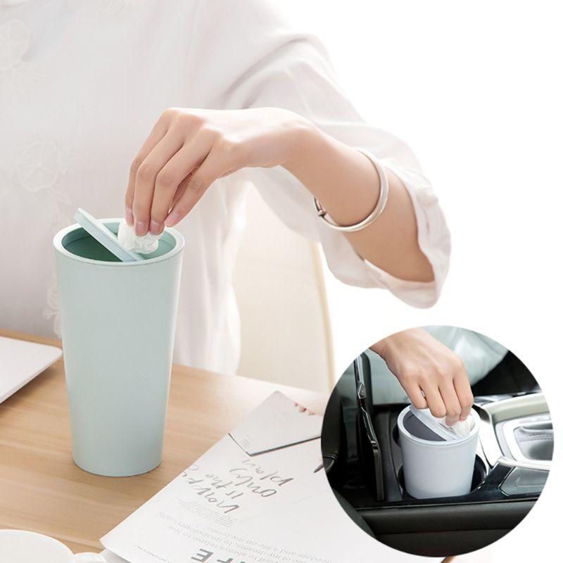 Mini cubo de basura pequeño, cubo de basura de escritorio, cubo de basura reciclado de mesa, cubo de basura de coche, habitación de la oficina en casa