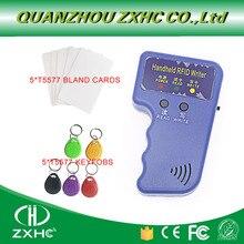 Handheld ID Kaarten 125 KHz RFID Copier Lezer Schrijver Duplicator Gebruikt voor T5577 EM4305 Copy + 5T557CARDS + 5T5577 KEYFOBS