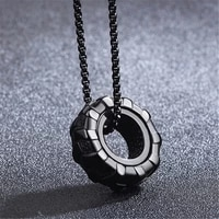 nhgbft classic mens pendant black stainless steel car tire pendant necklace male jewelry dropshipping