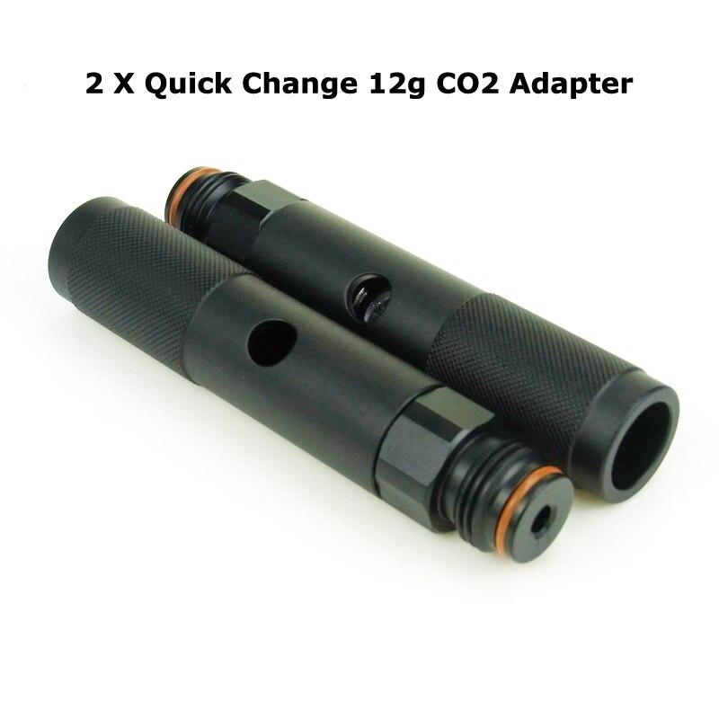 Новый Пейнтбольный Воздушный пистолет, 2 шт., страйкбольная воздушная винтовка PCP, быстрая смена, 12 г, 12 г, CO2 адаптер с нитями для пейнтбольного бака