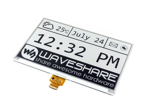 Waveshare 7.5inch E-Ink Raw Display without PCB,640x384 E-paper Module,Two-color:Black White SPI Interface,No Backlight