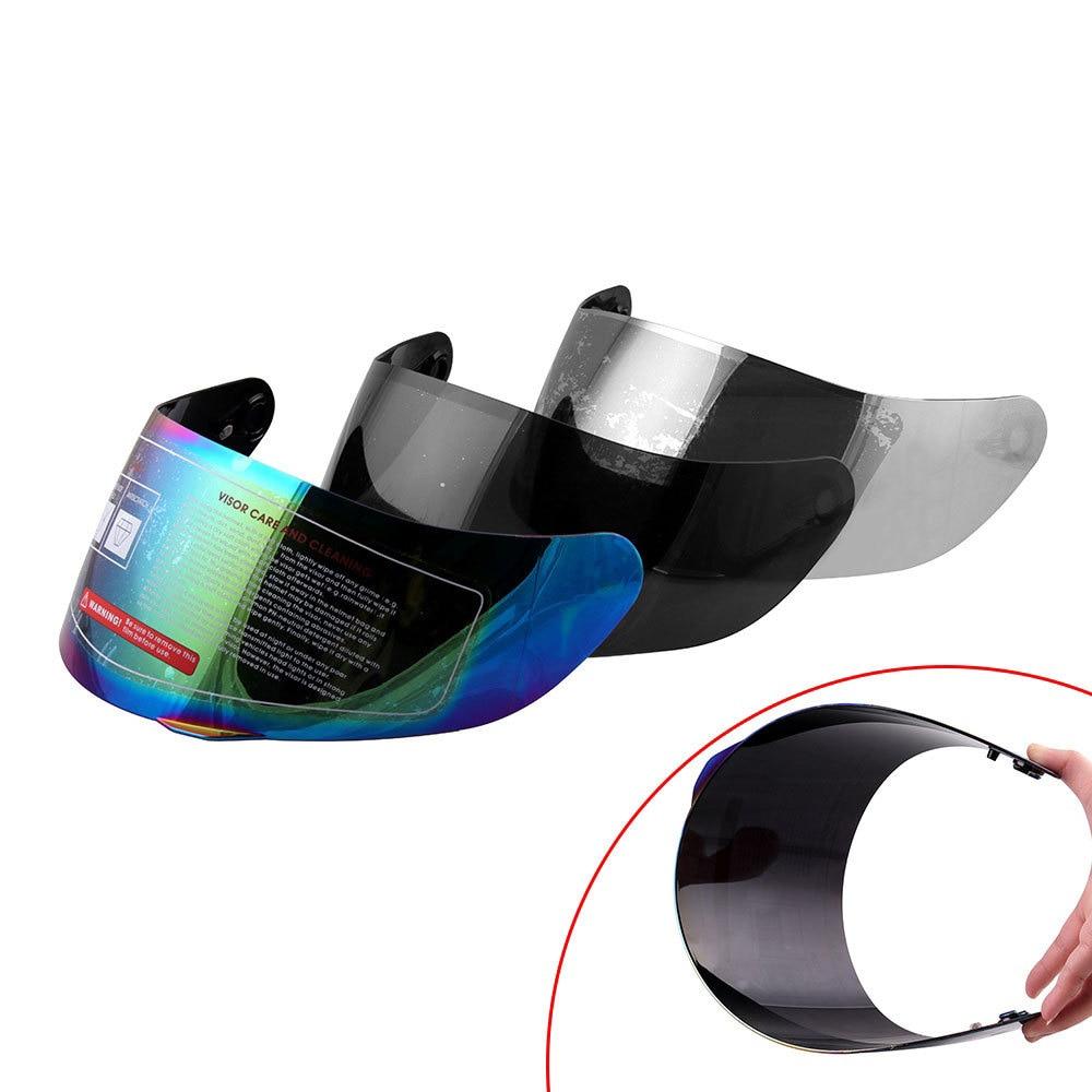 Lentes para casco de motocicleta Universal gafas de cara completa para AGV K3 SV K5 cubierta de casco de motocicleta lente multicolor