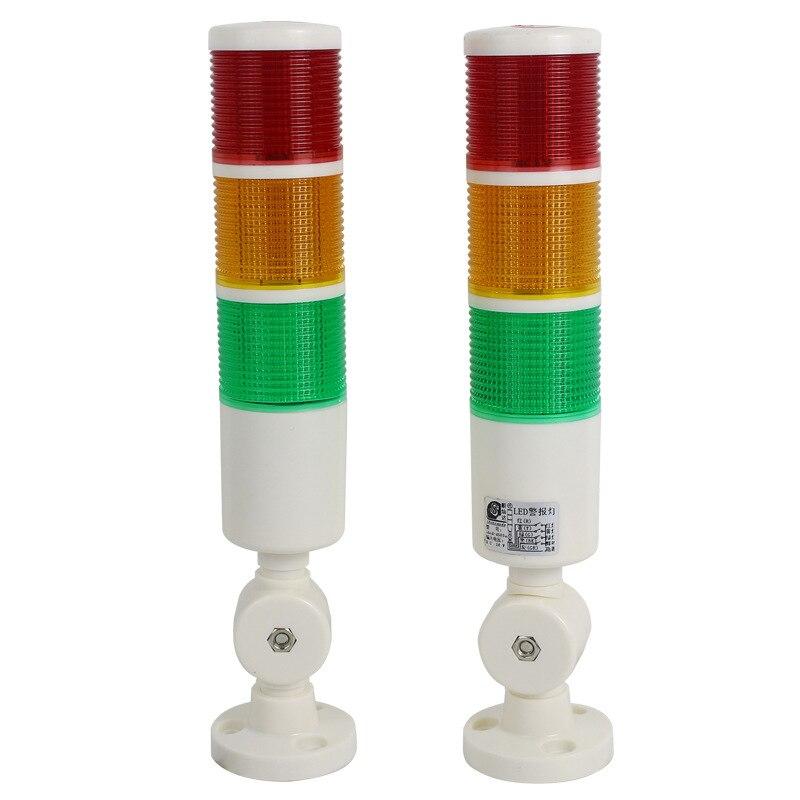 24V 220V الالوان الثلاثة إنذار ضوء LED 3-اللون مؤشر متعددة طبقة الساطع/دائما مشرق إنذار مع الطنان ل آلة المعدات