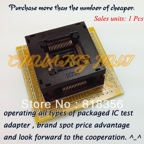 QFP64 Test Socket IC234-0644-024 Test Socket/IC Socket Pitch:0.8mm Size:32.2x32.3mm
