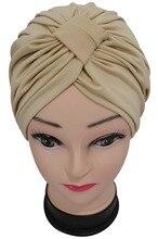 Casquette en Turban indien pour femmes   Nouvelle mode, couleur unie, noir bordeaux marine, Modal, chapeaux
