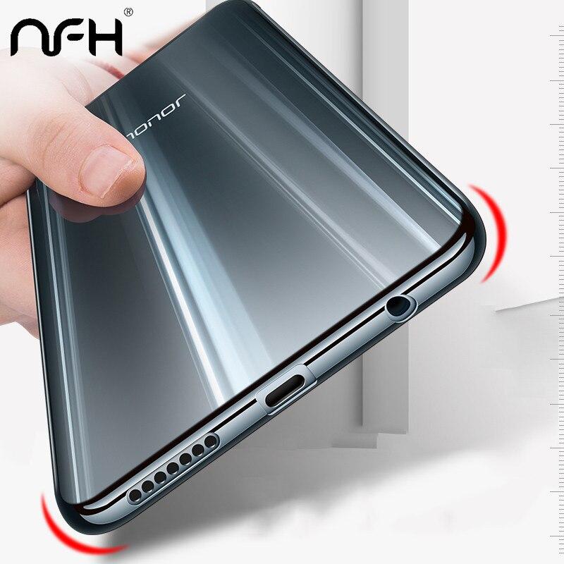 NFH, carcasa de TPU chapada de lujo para Huawei Honor 9 10, funda de silicona Ultra fina transparente para Huawei On Honor 9 10 lite, carcasa para teléfono