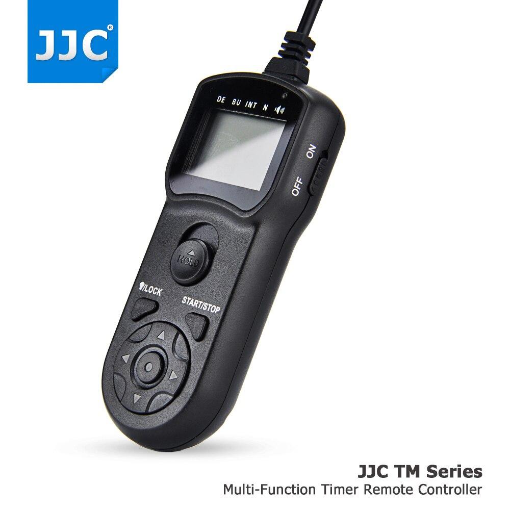 Cabo de liberação do obturador de controle remoto do temporizador com fio da câmera jjc para sony a7iii a6500 a6300 a6000 a7r ii rx100iv hx90 hx90v rx1r ii