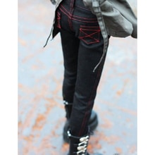 """Bjd preto calças jeans calças apertadas roupas para o sexo masculino 1/3 sd 60cm 24 """"1/4 17"""" boneca de alta bjd msd dk dz aod dd heduoep"""