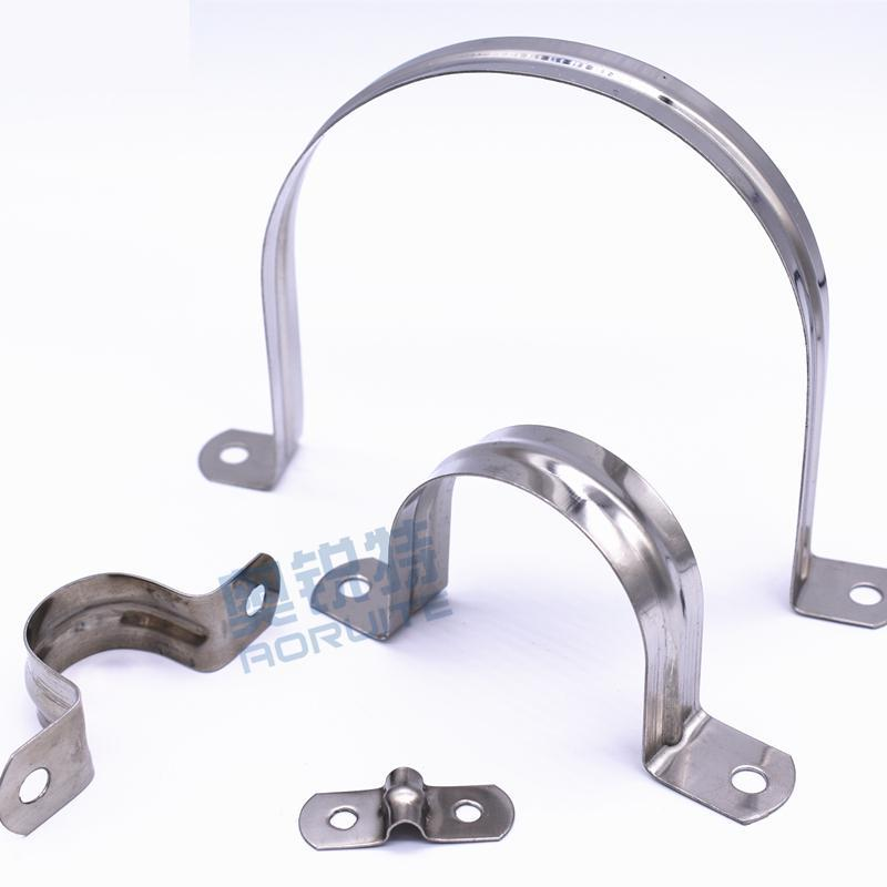 ID 5/8/10/12/14/16/20/25/27/32/35/40/50/60/70-110 201 Stainless Steel Pipe Clamp Fixed Pipe Support Riding Horse Clasp Hoop Omka
