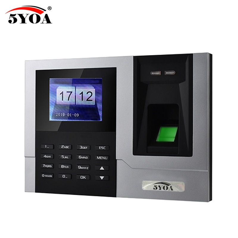AT608 Tcp IP RJ45 Biometric Fingerprint Time Attendance Clock Recorder Employee Recognition Device Electronic Machine